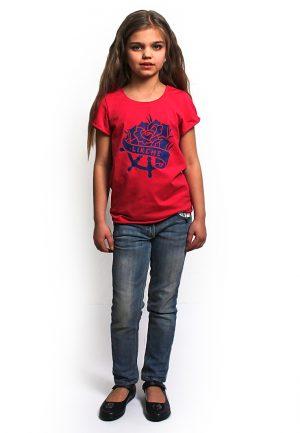 яркая футболка для девочки купить фэмили лук Украина