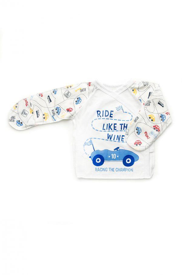 распашонка для новорожденного принт машинки купить с доставкой