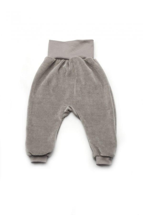 купить серые штаны велюровые с открытыми ножками Украина