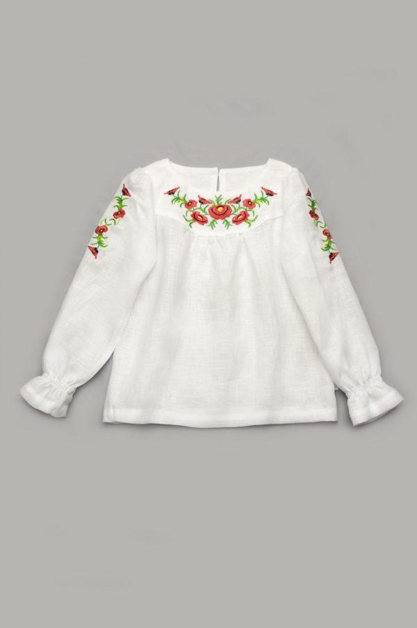 нарядная вышиванка из льна для девочки купить с доставкой