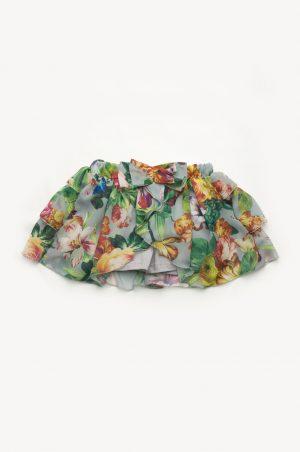 детская юбка шорты из шифона цветы недорого