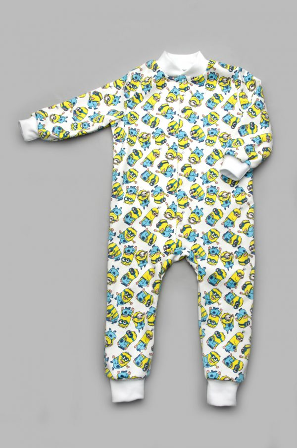 пижама комбинезон миньоны для малышей купить недорого