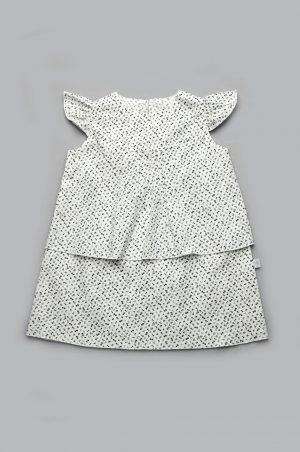 летнее платье белое в мелкий цветочек для девочки