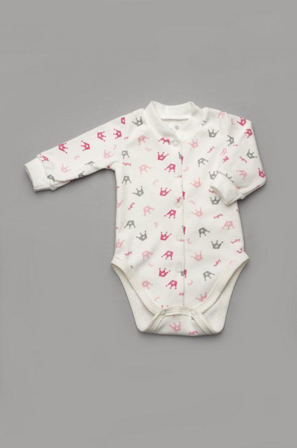 качественный боди с длинным рукавом для новорожденной купить Днепр