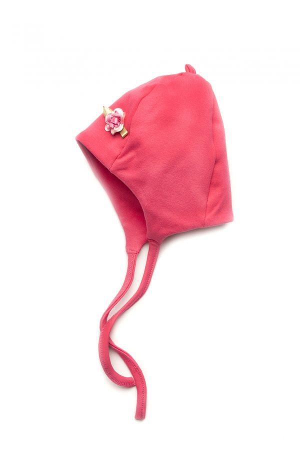 детская шапка для девочки на завязках