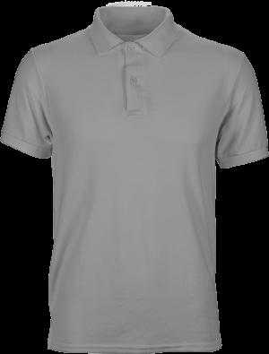 серая однотонная футболка поло мужская недорого