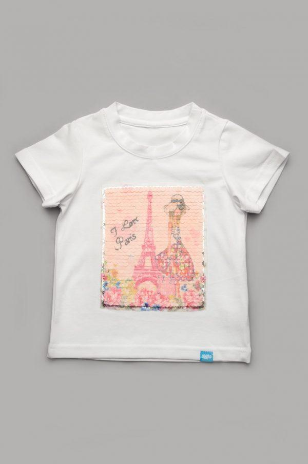 футболка для девочки с пайетками купить недорого