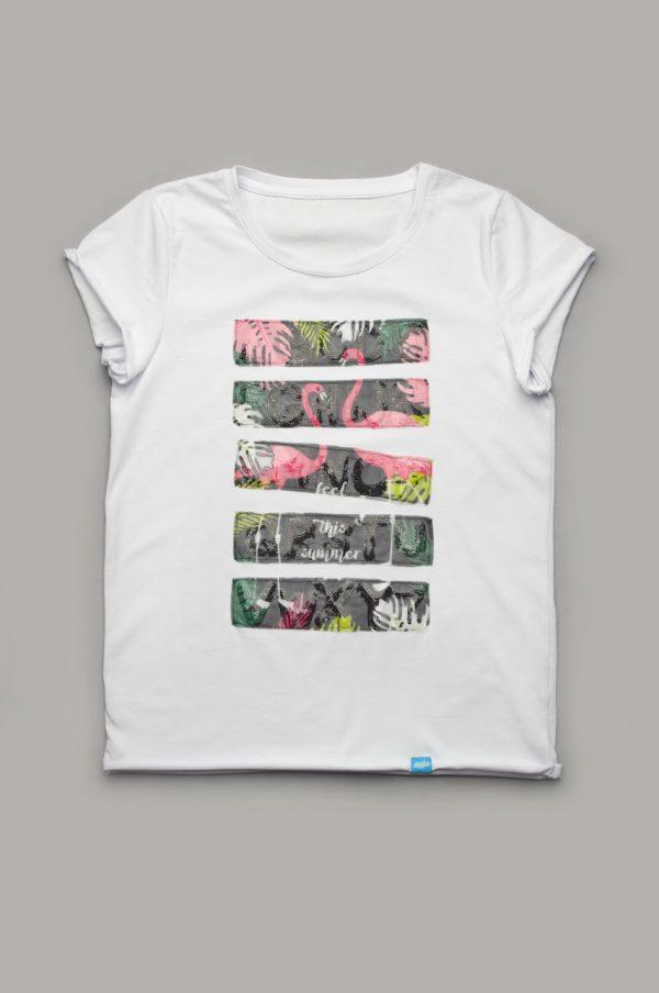 женская футболка с декором купить с доставкой