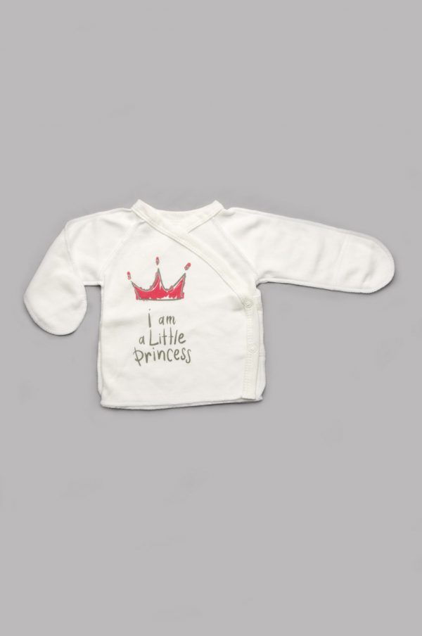 недорогая распашонка для новорожденной с закрытыми рукавами