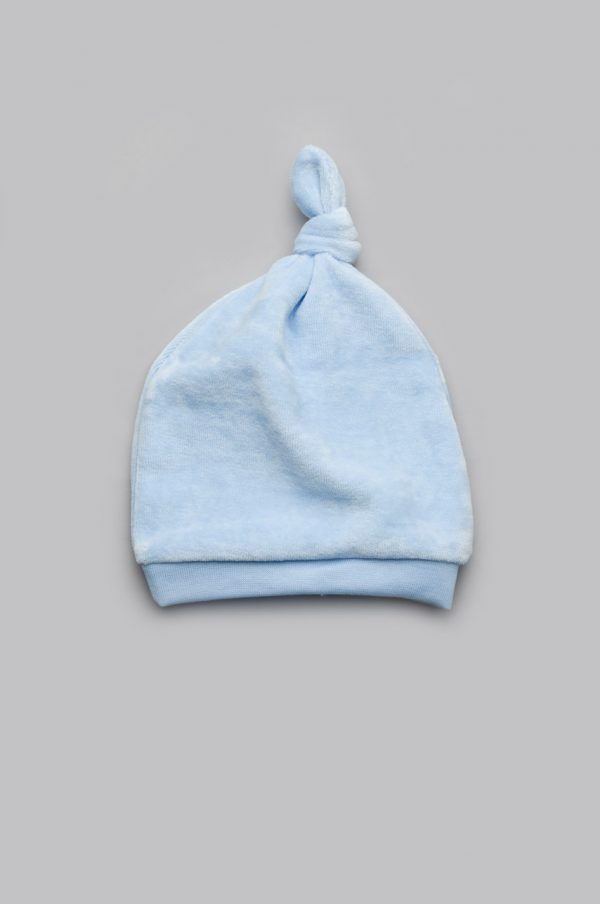велюровая шапочка с одним узелком для мальчика купить
