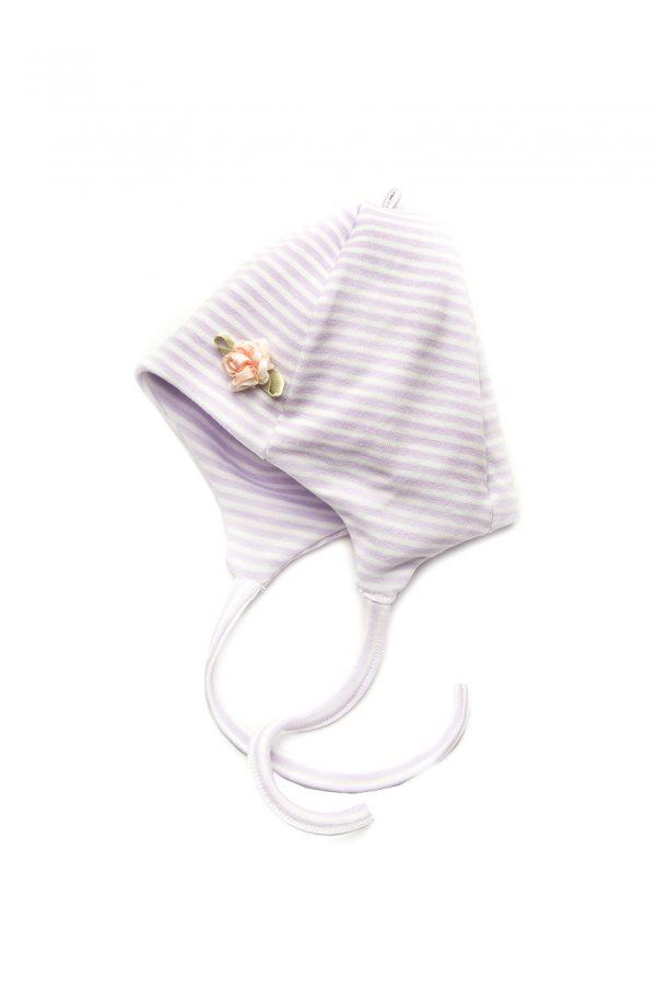 шапочка на завязках для девочки