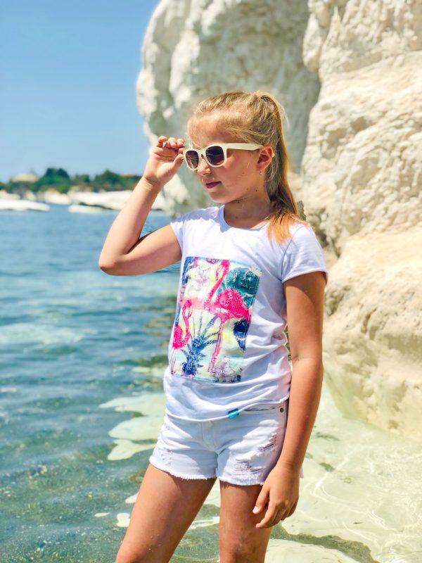 модная футболка для девочки аппликация недорого