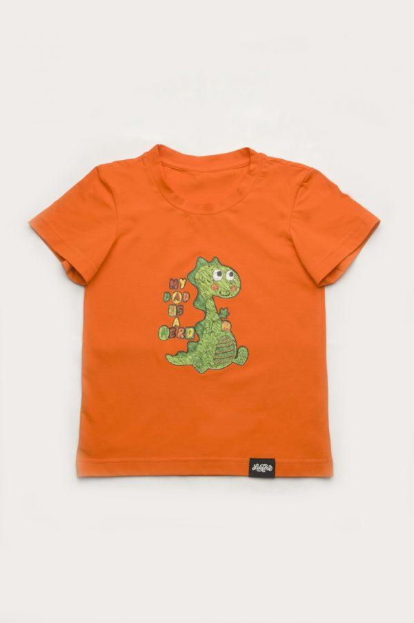 яркая футболка для мальчика рисунок динозавр купить