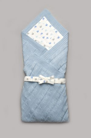 конверт вязанный плед для новорожденного купить Харьков