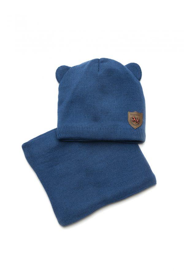 набор шапка деми и снуд для мальчика купить Харьков