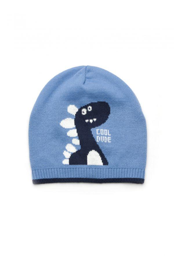 демисезонная шапка для мальчика трикотаж