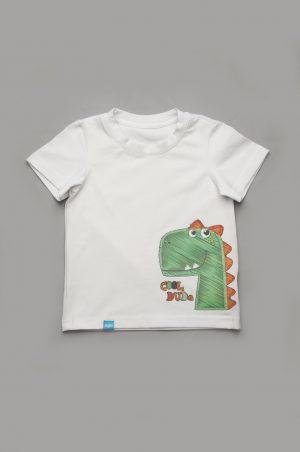 футболка аппликация динозавр для мальчика недорого