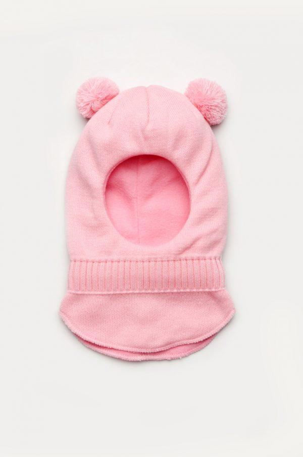 шапка шлем с помпонами для девочки недорого Харьков