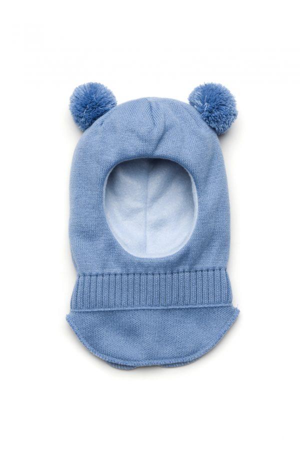 шапка шлем с помпонами для мальчика Днепр
