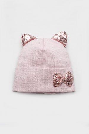 шапка деми с пайетками для девочки Харьков