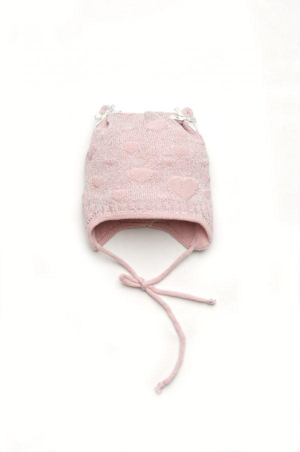 шапка для девочки на завязках осень весна купить