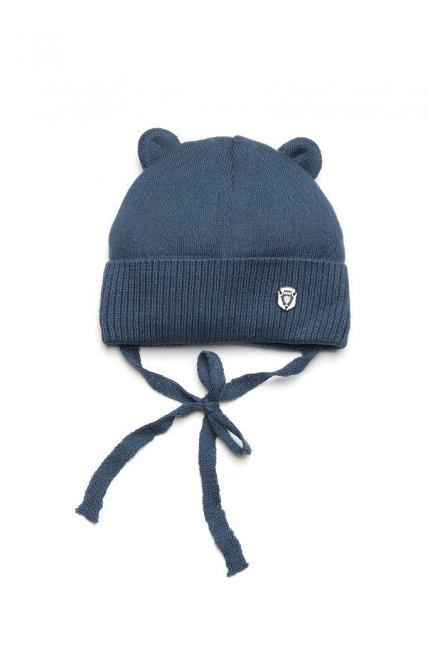 шапка с ушками на завязках для мальчика