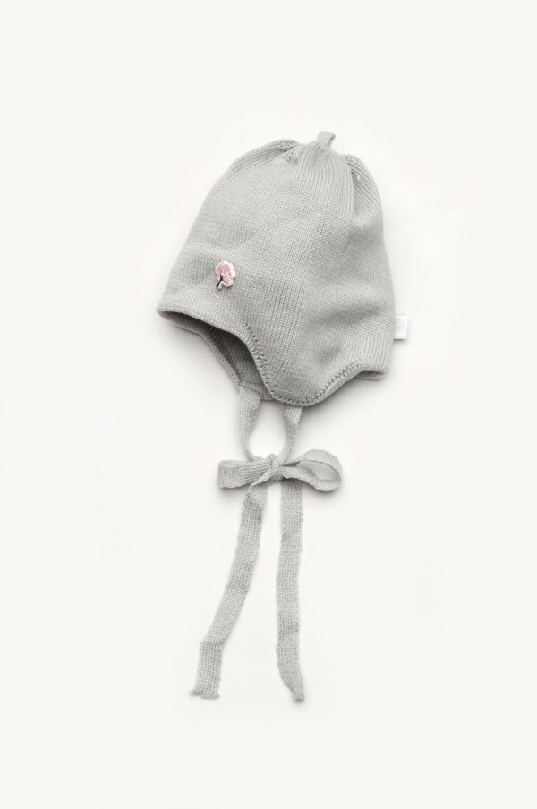 недорогая шапка деми для девочки на завязках Киев