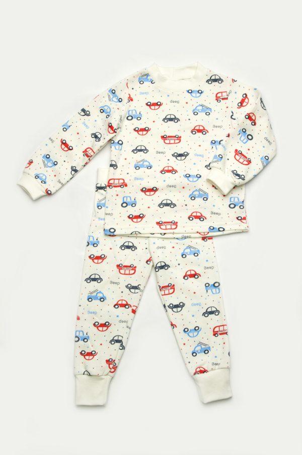 недорогая пижама для мальчика машинки