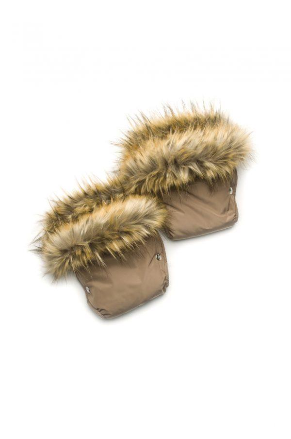 теплые рукавицы муфта на коляску с опушкой купить Днепр