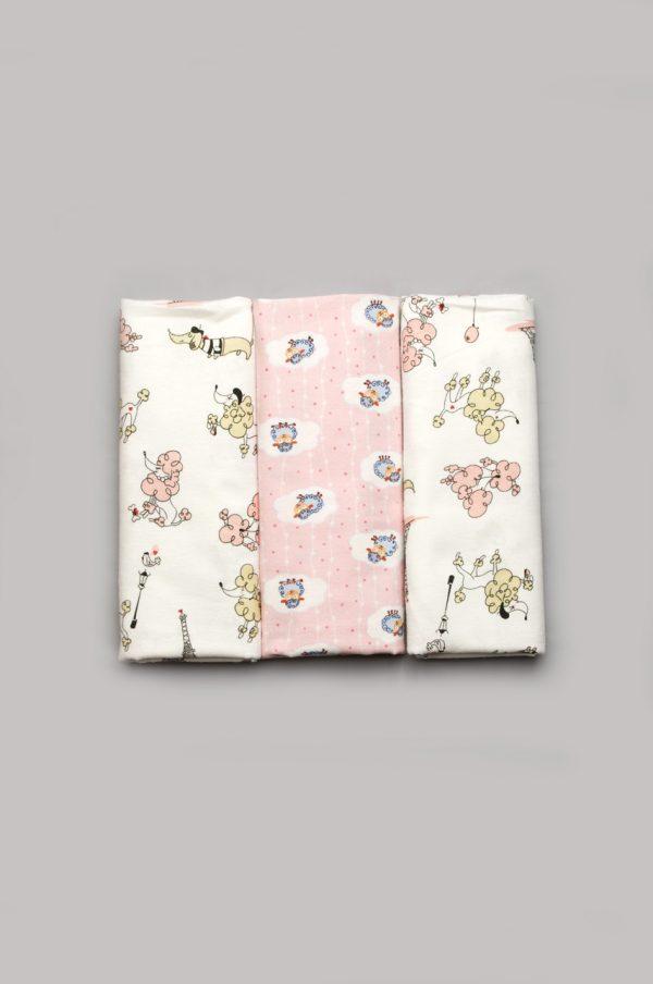 недорогой комплект пеленок байка для девочки