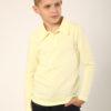 Футболка-поло з длинным рукавом для мальчика