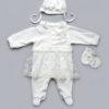 Нарядный комплект для новорожденной девочки