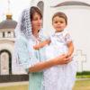 Комплект крестильный для девочки с гипюром